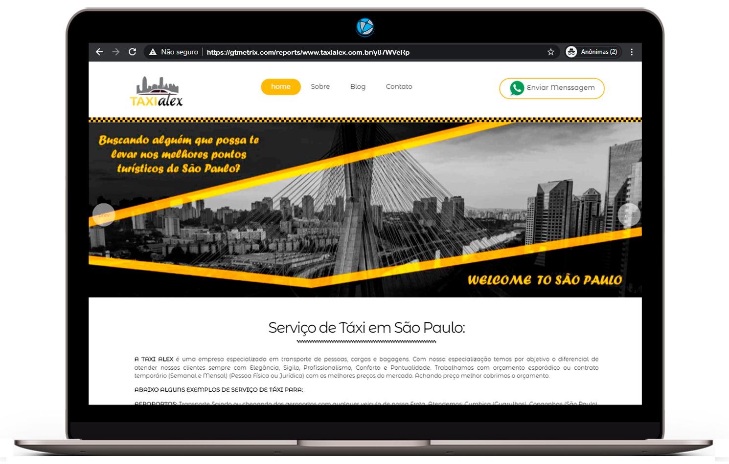 criação de sites para taxista